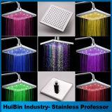 Colore che cambia il flash quadrato di RGB delle teste di acquazzone del bicromato di potassio 8-Inch per la stanza da bagno
