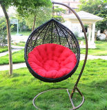 2018屋外の家具の穏かなテラスの円形のハングの卵の振動椅子