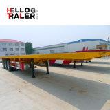 Helloo Aanhangwagen van de Stortplaats van de Verschepende Container van 40 voet Flatbed Semi met 3 Assen