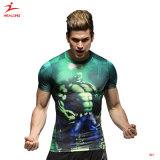 면 남자 t-셔츠를 인쇄하는 Healong 3D Wholsale t-셔츠