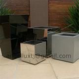 贅沢な方法様式の庭の植木鉢のステンレス鋼物質的なプランター鍋