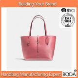 Nuove borse del Tote delle donne del cuoio di colore rosa di stagione (BDX-171115)
