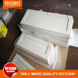 De Deur van het Glas van de mat aan Witte Online Keukenkasten wordt toegevoegd die