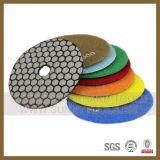 Polimento de resina de piso de diamante para betão