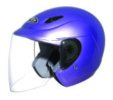 Casco de la motocicleta de la cara abierta con el DOT