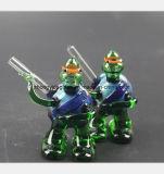 Blaue Gott-Gott-Schildkröte, die Glaswasser-Rohr Filter-Tabak formt
