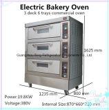 Forno de padaria elétrico da máquina 3-Deck 6-Trays do cozimento do bolo