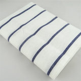 100%年の綿の青く白い格子ふきん