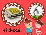 Universalserie-Bus (USB) schirmte -/Ausgabestecker, den Typen C ab, rechtwinklig, Oberflächen-Montierung, 0.76µ Überzug, Band und Bandspule des m-Gold(Au)
