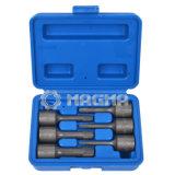 O soquete especial do extrator da torção de 6 PCS 3/8  ajustou 2-10mm (MG50488)