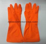 Длинный рабочий домашних хозяйств водонепроницаемые перчатки из латекса красного цвета с SGS утвержденных