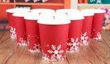 Vaso de papel café desechables de navidad
