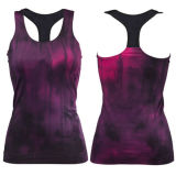 Mulheres Stringer Gym Tank Top com Sublimation Printing