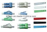 파란 색깔 단순한 LC/PC Singelmode 섬유 연결관