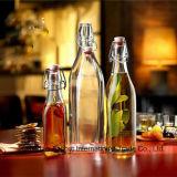 Бутылка масла стеклянная с универсальными загерметизированными щелчковыми соединениями