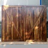 Porte de grange en bois de porte de rétro type d'appartement pour la maison