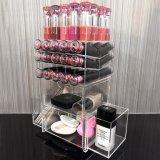 Premium акриловый вращающихся органайзера для макияжа губная помада башни щеткодержатель