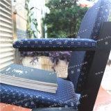 Оптовый складывая стул театра с подлокотником в голубой ткани для аудитории и церков Yc-Zg66