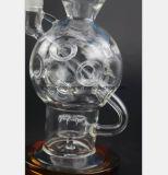 Conduite d'eau en verre pour réutiliser la pipe de fumée de tabac de filtre