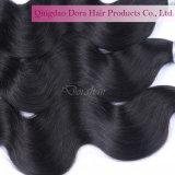 Natürliche schwarze brasilianische Haar-Webart-Extensions-unverarbeitetes Jungfrau-Haar