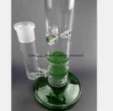 Grünes doppeltes Bienenwabe-Filter-Glas-Rohr, das Glaswasser-Rohre aufbereitet