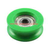 Metal Core를 가진 OEM Solid Urethane Rubber Covered v Groove Forward Bearing Roller Wheel