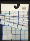 Законченный шотландка 100% обыкновенного толком Weave хлопка ткани белой напечатанная землей Multi-Color