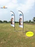 Promoção de eventos ao ar livre bandeira de penas de poliéster personalizados/Arvorando pavilhão