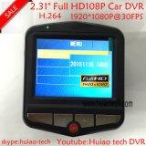 """Câmera de carro de 2,31 """"Full HD1080p 3.0mega com sensor G, visão noturna, WDR, gravação de ciclo Dvrs-2402"""
