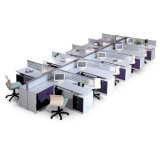 Mobiliario moderno de oficina de oficina abierta de escritorio blanco (SZ-WST613)