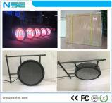 Im Freien rundes Acryl, das an der Wand befestigtes Zeichen der runden Form-LED bildet