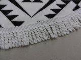 Personalizado de impresión reactiva algodón toalla de playa redonda con borlas