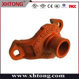 Ferro duttile arancione con scanalature omologato FM/UL, raccordo a T meccanico Raccordi per tubi