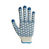 Gant de coton avec revêtement PVC pointillée ondulée de jardin