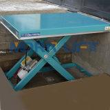 Pequena mesa de elevação em tesoura hidráulica elétrica
