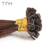 """14""""16""""18""""20""""22""""25 brins pré droites collées Nail U Astuce la kératine des cheveux Extensions Fusion Remy 0.5g/volets 100g (18"""" N° 2 brun plus foncé)"""