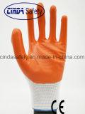 Нитриловые покрытием промышленных защитные перчатки