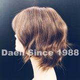 Breve parrucca dei capelli ondulati con la parte superiore respirante