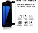 film protecteur de téléphone d'Anti-Empreinte digitale noire de couleur du protecteur 0.33mm d'écran incurvé par 3D en verre Tempered de la pleine couverture 9h pour le bord de la galaxie S7 de Samsung