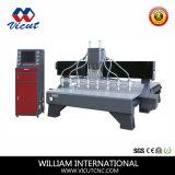 CNCの彫版機械マルチヘッド木工業機械Vct-2125W-8h