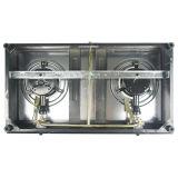 Stufa Jp-Gcg210 del fornello/gas della parte superiore di vetro Tempered dei 2 bruciatori