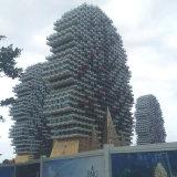 Curved iperbolico Aluminum Panels per Decorating Building Features