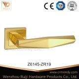 Gold überzogener Zink Zamak Tür-Griff mit quadratischer Rose (Z6063-ZR09)