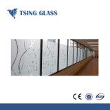 3-12mm Impression Silk-Screen verre avec logo/bords polis