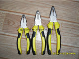Pinze di combinazione di buona qualità con il nero/maniglia di gomma gialla