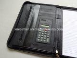 Chiusura lampo Leather Bound Organizer Padfolio con Notepad