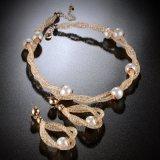 Jogo africano da jóia da forma da pérola do traje do chapeamento de ouro do ouro de Dubai da forma
