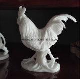 Het levensgrote Beeldhouwwerk van de Haan van het Standbeeld van de Haan van het Graniet Marmeren Dierlijke voor Decoratie