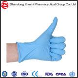 Guanti medici del nitrile del nitrile dei fornitori blu a gettare dei guanti