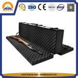 Casella di trasporto portatile professionale nera della cassa di strumento della cassa di pistola con la cassa dell'alluminio della maniglia e della gomma piuma